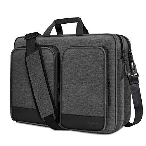 Alfheim Laptop da 17-17,3 Pollici Spalla Borsa, Impermeabile Resistente agli Urti Protettivo Borsa a Tracolla per Uomo Donna, Borsa per Computer Multifunzionale Compatibile per Notebook da Tavolo