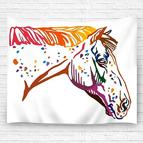 WKLNM Wandkunst Wandteppich Wanddecoratie Wandtapijt Kleurrijke Portret van Gevlekte Appaloosa Paard Mode Decor Strand Handdoek Tapijt 39.4