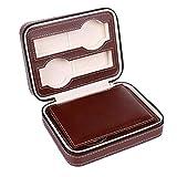 ● La caja está dividida en dos capas, con cartón y cojines en el medio para evitar que los relojes se resbalen.Puede contener cuatro relojes a la vez.