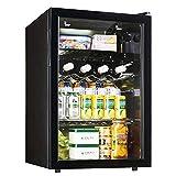 XWX Puerta del Hogar Individual Frigorífico Pequeño Refrigerador De Té De Muestra Preservación del Gabinete De Cristal del Vino Vitrina