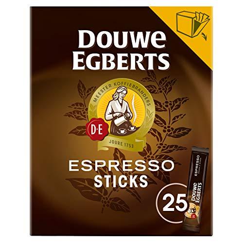 Douwe Egberts Oploskoffie Sticks Espresso, (150 Sticks, Intensiteit 09/09, Dark Roast Instant Koffie), 6 X 25 Zakjes 270…