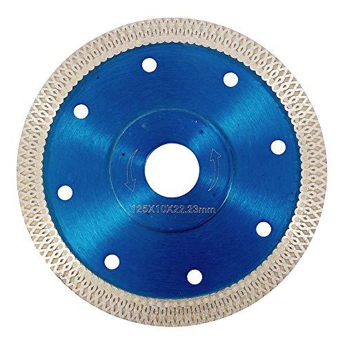 Welcomefee Diamant-Sägeblatt für trockene und nasse Winkelschleifer zum Schneiden von Porzellanfliesen, Granit, Marmor, Keramik, schwarz