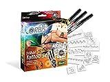 Unbekannt Orbis 30308 Tribal Tattoo Set mit Farbpatronen für die Haut und selbstklebenden Schablonen Kinder und Allen Anderen Kreativen, Zubehör für das Airbrush Power Studio 30020, Mehrfarbig -