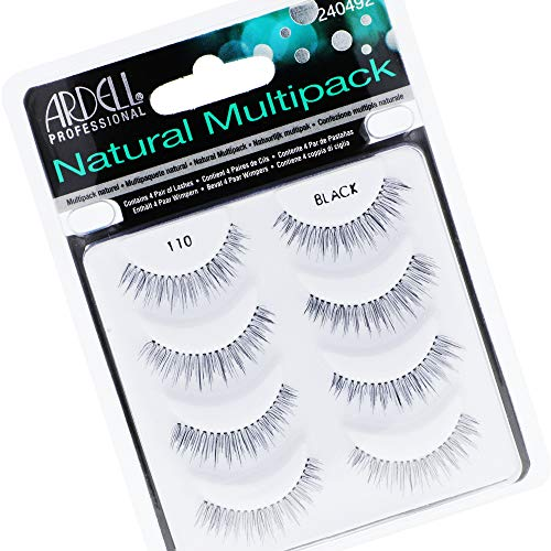 Ardell 110, Lashes, Multipack, 4 Pares de Pestañas