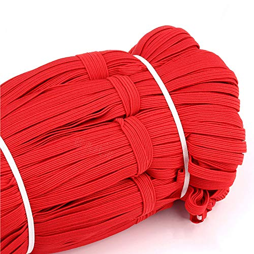 Braided Elastic Band, 33 Yards Length 1/4 Inch Width Elastic Rope Elastic Cord Heavy Stretch High Elasticity Knit Elastic Band for Sewing Crafts DIY, Bedspread, Cuff (Color 9)