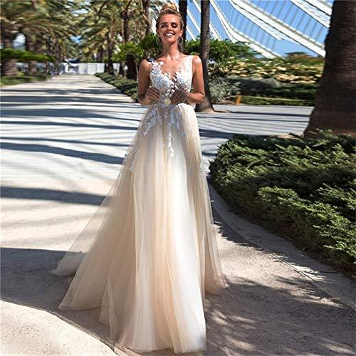 Vestido de novia con encaje Vestido De Novia, Apliques Y Tul