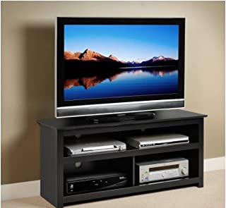 Black Entertainment Center Tv Stand Console for Flat Screens , Plasma and Other Brands. A Great Console. Sale. Easy Blends with Other Furniture Made of Wood. A High Quality Console Table. Great for Dining Room, Living Room or Bedroom Viewing Storage.