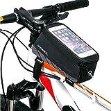 滑り止めゲルが付き、落下することはなく安定して利用可能です。 大容量自転車用 トップチューブバッグ、 タッチスクリーン携帯電話ポケット付き。 携帯電話・財布・鍵・小銭・カード・修理工具など小物の収納に便利な大容量バッグです。 イヤホン、USBケーブルが通せるホール付き、サイクリング中の操作をもっと便利になります。 高感度の透明タッチスクリーンとなりますので、スマホを入れたまま操作ができます。