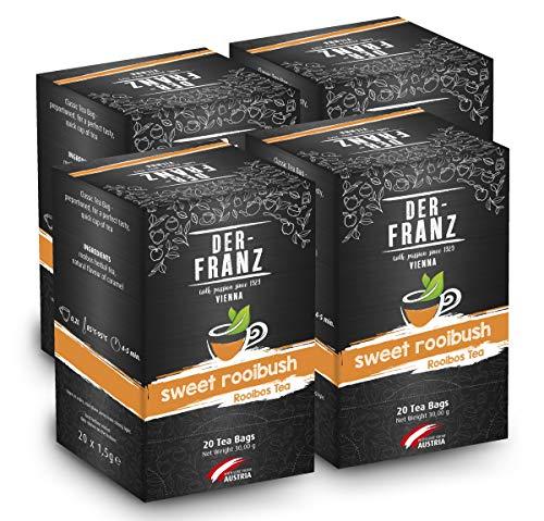 Der Franz Tè rooibos Sweet Rooibos aromatizzato naturalmente in bustina classica, 4 confezioni (20 x 1.5 g)