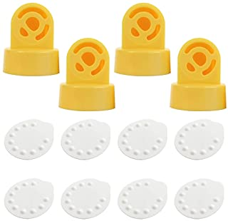 Nenesupply Compatible Membranes and Valves for Medela Breastpumps. Use on Medela Pump in Style Swing Symphony Harmony Manual Not Original Medela Pump Parts. Replace Medela Membrane and Medela Valves