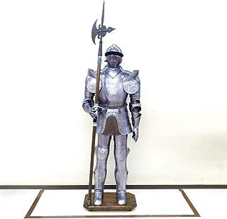 イタリア製 西洋甲冑 実寸大 レプリカ 中世の騎士 バトルスーツ ランス 獅子の紋章 184cm giu-031-03