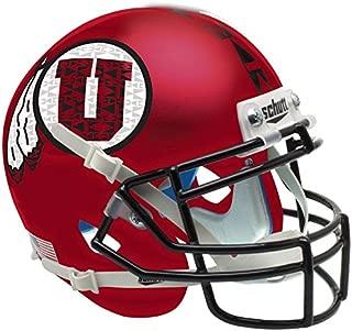Utah Utes Satin Red Black Mask Officially Licensed Full Size XP Replica Football Helmet