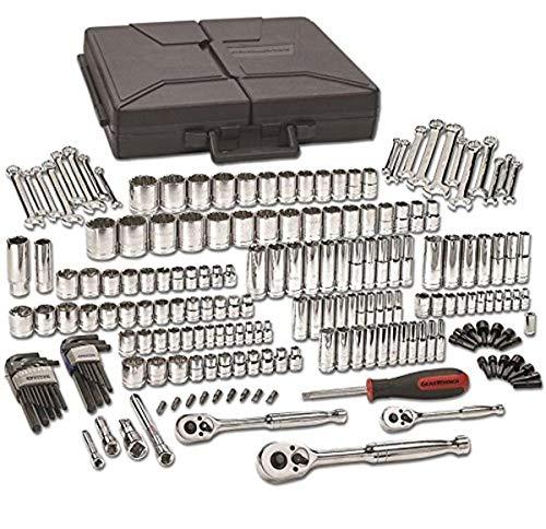 "GEARWRENCH 1/4"", 3/8"" & 1/2"" Drive Standard & Deep SAE/Metric Mechanics Tool Set 216 Pc., 6 & 12 Point - 80933"