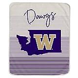 Pegasus Sports NCAA Ultra Fleece State Stripe Blanket- Washington Huskies