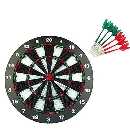 Safety Dart Board Set -16 Zoll Gummi Dartboard Spiel Mit 6 Soft Tip Darts Für Kinder Und Erwachsene, Party, Büro Und Familie Freizeitsport
