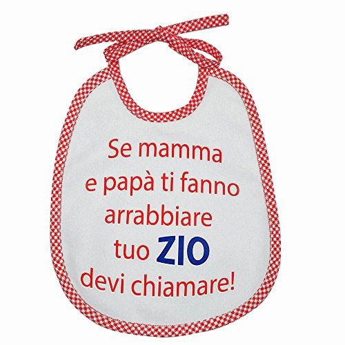 Lätzchen mit Druck Sätze verschiedene Spirituosen cm.20x 24mit Bändern–Baumwolle 100%–Made in Italy ROSSO1