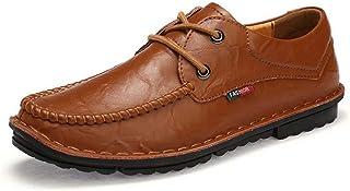 [hitstar] メンズ 革靴 カジュアル 革靴 靴ひも 革靴 軽量 通気性 出張 ビズネスシューズ 防滑 歩きやすい