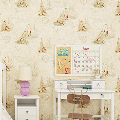3D Hintergrundbild Wandbild Landschaft Wohnzimmer Schlafzimmermeter Gelb Blau Mittelmeer Segeln Kinderzimmer 3D Wallpaper Weltkarte Junge Mädchen Schlafzimmer Zimmer Tapetenrolle @ 250 * 175