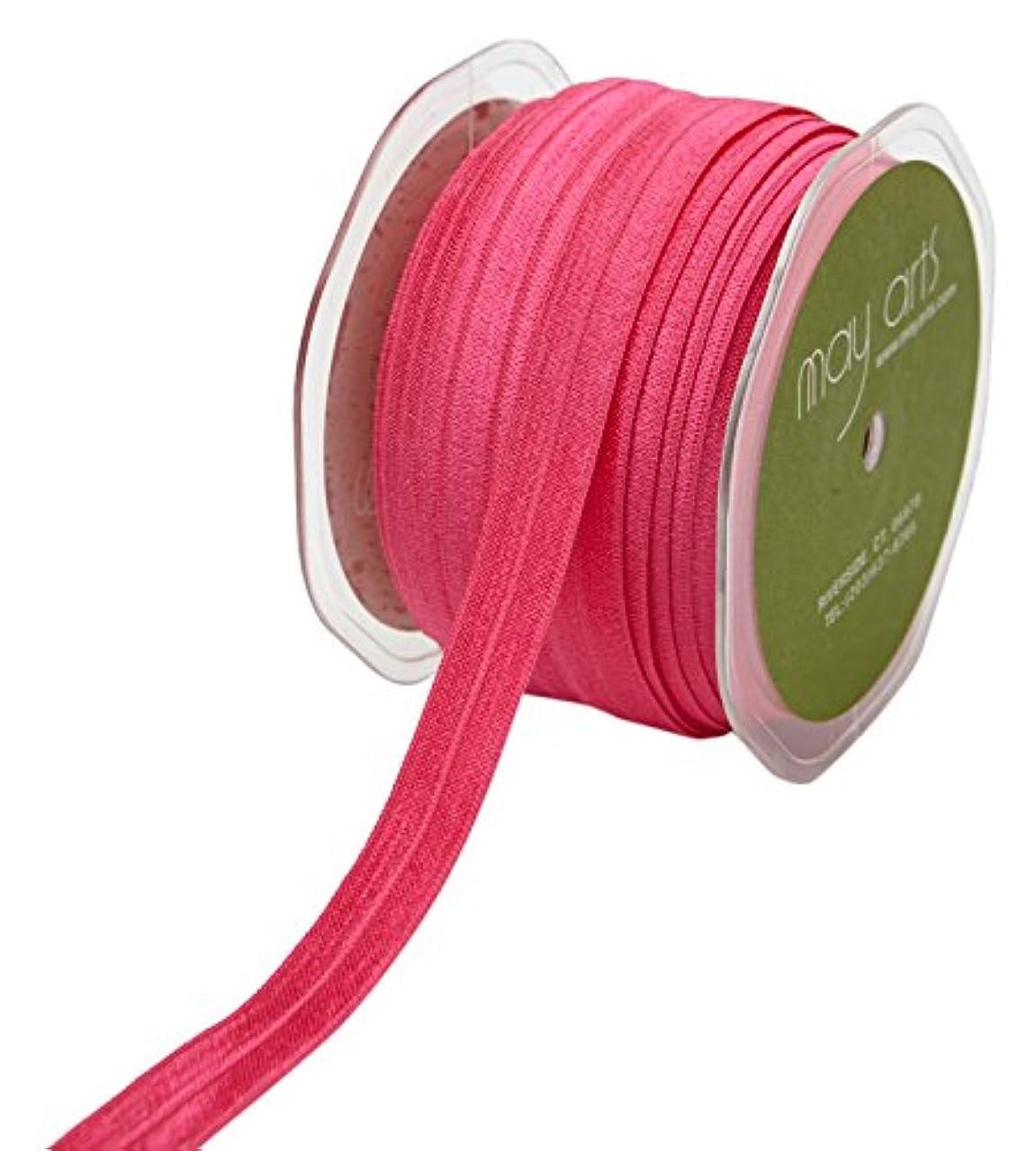 May Arts Ribbon 5/8 Inch Elastic Ribbon 30 yd Hot Pink