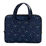 Yumbox Poche - Insulated Sleeve Lunch Box with Handles and Exterior Pockets (Navy with Gold Stars);...