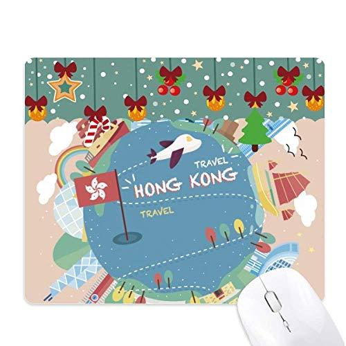 Ik hou van Hong Kong beroemde plaatsen muismat spel Office Mat Kerstmis Rubber Pad