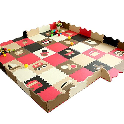 Best Deals! Crawling mat Roscloud Baby Children Puzzle Mats Bedroom Splice Floor Mat Thicken