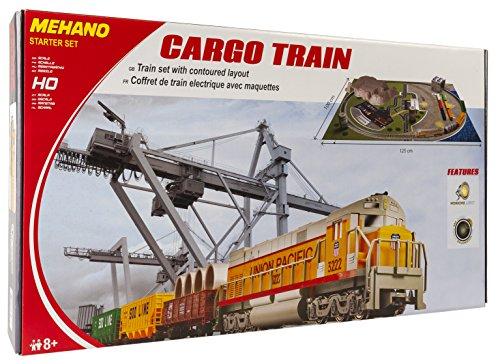 Mehano - T113 - Coffret de train Cargo Train avec régulateur de vitesse, transformateur et maquette