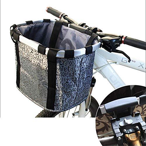 ZMXZMQ Fiets Carrier Bike Basket Bag, Opvouwbare Afneembare Huisdier Hond Reizen Fietsmandje, Snelle release Gemakkelijk te installeren Afneembare Fietstas, grijs