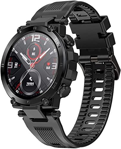 SHIJIAN El reloj inteligente admite múltiples modos de deportes y puede nadar en el agua. pulsera deportiva puede recordar inteligentemente relojes exquisitos impermeables-negro