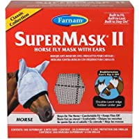 Farnam SuperMask II Classic Horse Fly Mask with Ears, Horse, Assorted by Farnam