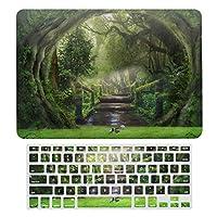 森風景 木製トレール MacBook Air 13 インチ ケース 衝撃吸収 薄型 対応 A1466/A1369 MacBook Air 13 キーボードカバー ラップトップ MacBook Pro 13 キーボードカバー MacBook Pro 13 インチ ケース カバー A1706/A1989/A2159