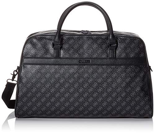 Guess Herren 4g Sport Duffle Bag Schultertasche, Schwarz (Black), 15x31x50 centimeters