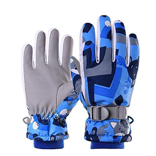 Kinder Winter Schnee Ski Thinsulate wasserdichte Jugendhandschuhe Für Kaltes Wetter Zum Skifahren, Snowboarden - Für Jungen Und Mädchen,C,M
