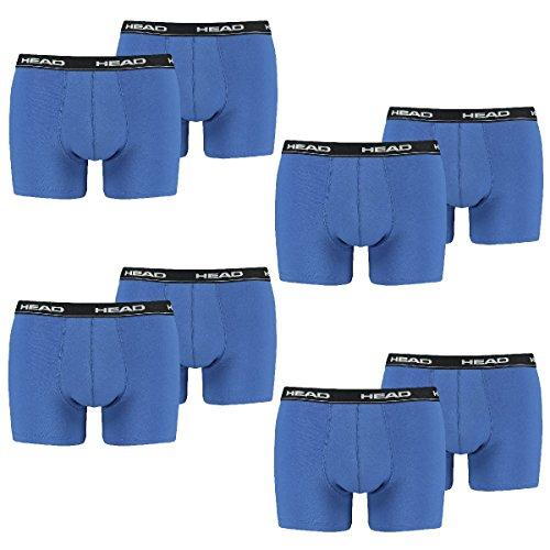 HEAD Herren Boxer Boxershort Unterhose 8er Pack in vielen Farben (L, blue/black)