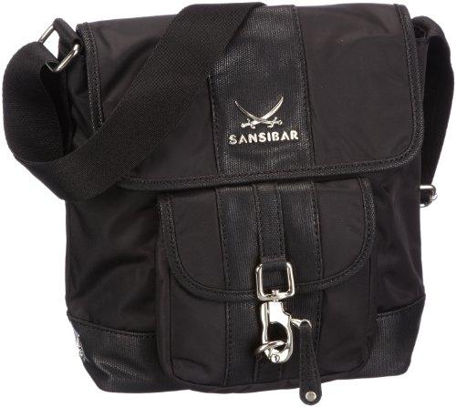 Sansibar Damen Umhängetaschen, Schwarz (Black), 22x24x9 cm