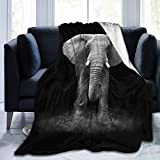 Youjia Elephant Throw Blanket Animal Mandala Elephant India Style Gifts Fleece Blankets Decor for Women Adult for Home Couch 50'X40'