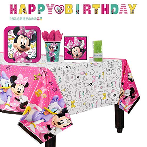 Amazing Deal Bundle Bop Minnie Mouse Party Supplies and Minnie Mouse Decorations Includes - Minnie M...