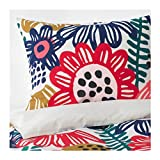 IKEA Sommaraster Duvet Cover and Pillowcases White Multicolor 504.232.95 Size: King