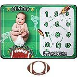 Fußball Themen Meilenstein Decke Baby Kleinkind Sport Decken für Jungen Mädchen Neugeborene Fotografie Requisiten Vlies Dusche Geschenke