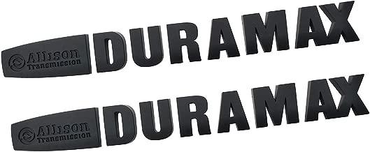 Yuauto 2pcs Allison Duramax Badges Emblems Replacement for Gm 2015 Silverado 2500hd 3500hd Hood (Black)
