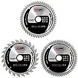 Saxton 165mm TCT mince Scie circulaire sans fil Lame de scie Lot C Dewalt Makita Ryobi Bosch