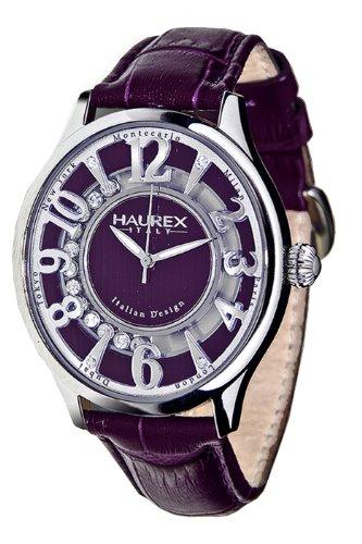 Haurex Italy Damenuhr Purple Dial Preziosa Watch #FA336DP1