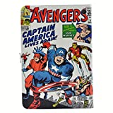 TPACC Case for All-New Kindle Fire HD 8 Tablet and Fire HD 8 Plus Tablet (10th Generation, 2020 Release) Leather Folding Multi-Angle Viewing Protective Stand Cover,Cartoon Comic Superhero Alliance