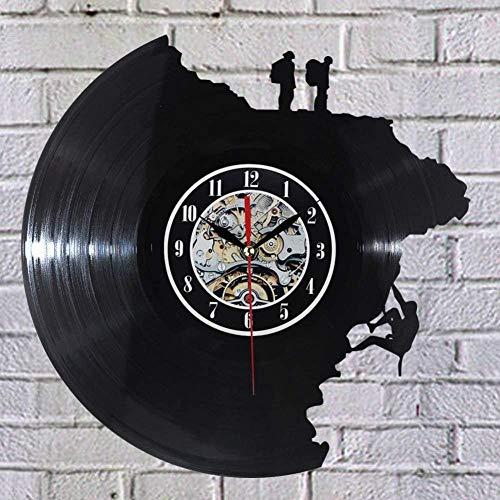 Grote decoratieve wandklokken Vinyl Record klok klimmen vorm 3D acryl Art horloge antieke stijl Quartz klok mechanisme naald