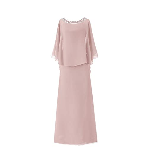 7050608233 H.S.D Women s Cloak Flutter Sleeve Long Mother of The Bride Dress