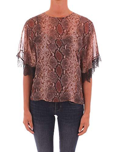 Twin set - camicia pitonata in seta - twinset - 44