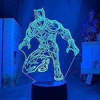 ナイトライト3Dスマートテーブルランプ幻覚サイエンスフィクション映画キャラクタータッチリモコン16色Usb充電Ledナイトライト誕生日やクリスマスパーティー