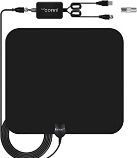 TV Antenna - HDTV Antenna Support 4K 1080P, New Version 80-120 Miles Range Digital Antenna for HDTV, VHF UHF Freeview Channels Antenna with Amplifier Signal Booster, 16.5 Ft Longer Coaxial Cable