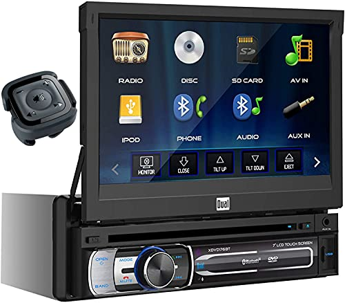 Dual XDVD176BT 7-Inch Single-DIN in-Dash DVD/CD Receiver with Bluetooth