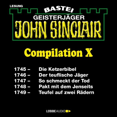 John Sinclair Compilation X audiobook cover art